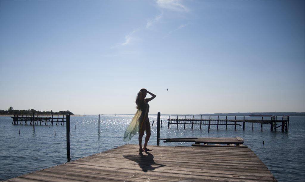 The Sky, The Ocean And The Girl - ZealusMedia Photography