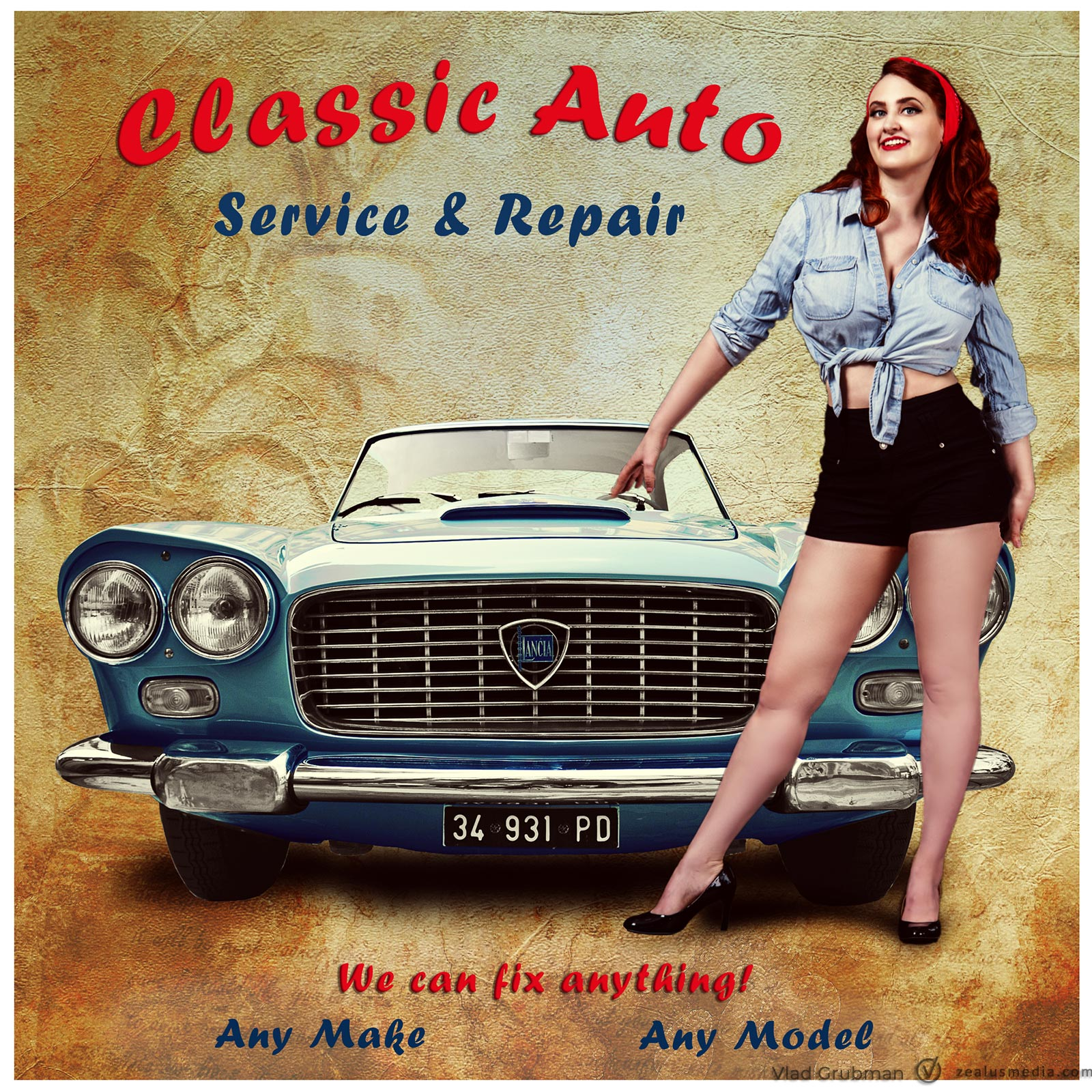 Vintage Poster – Another Car Repair Shop Poster